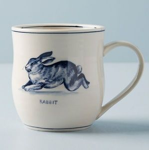 Anthropologie Molly Hatch Icon Mug in Rabbit